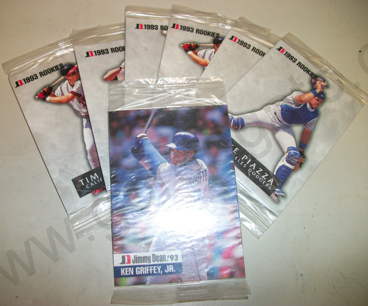 7 Unopened Packs Of 1993 Jimmy Dean Baseball Cards Ken