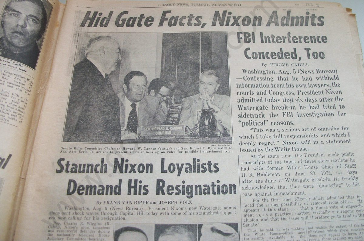 news articles on the watergate scandal