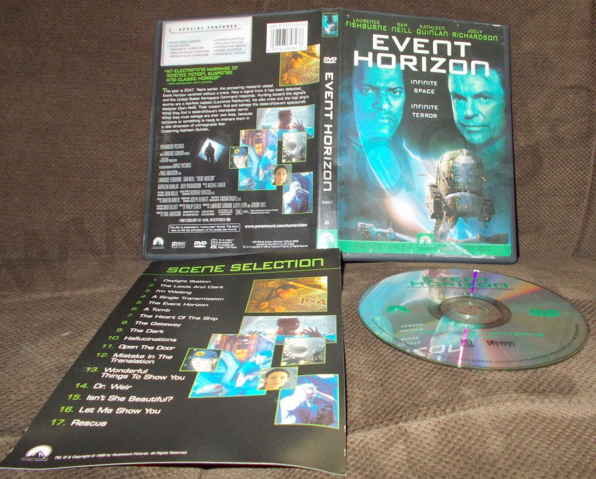 Event Horizon Dvd 1997 Laurence Fishburn Sam Neill Kathleen