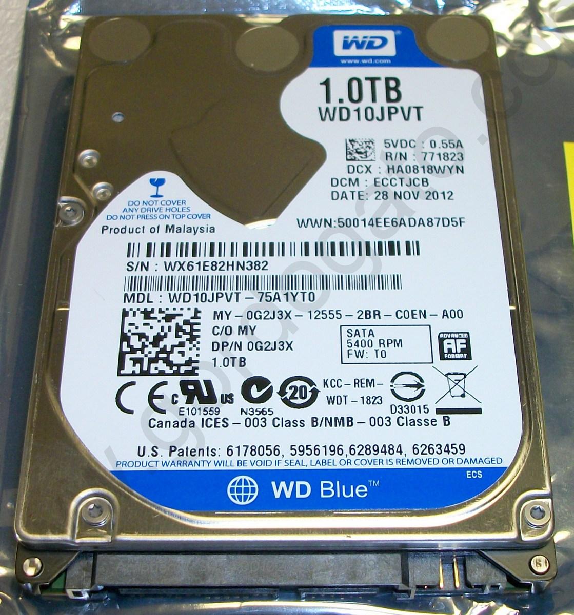 Western Digital WD10JPVT-75A1YT0 1TB Laptop Internal Hard Disk D, Gordogato's Interesting Stuff