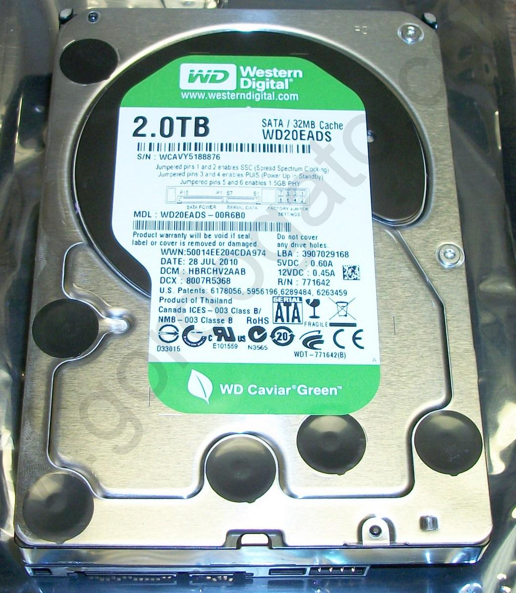 Western Digital WD20EADS-00R6B0 2TB Internal Hard Disk Drive