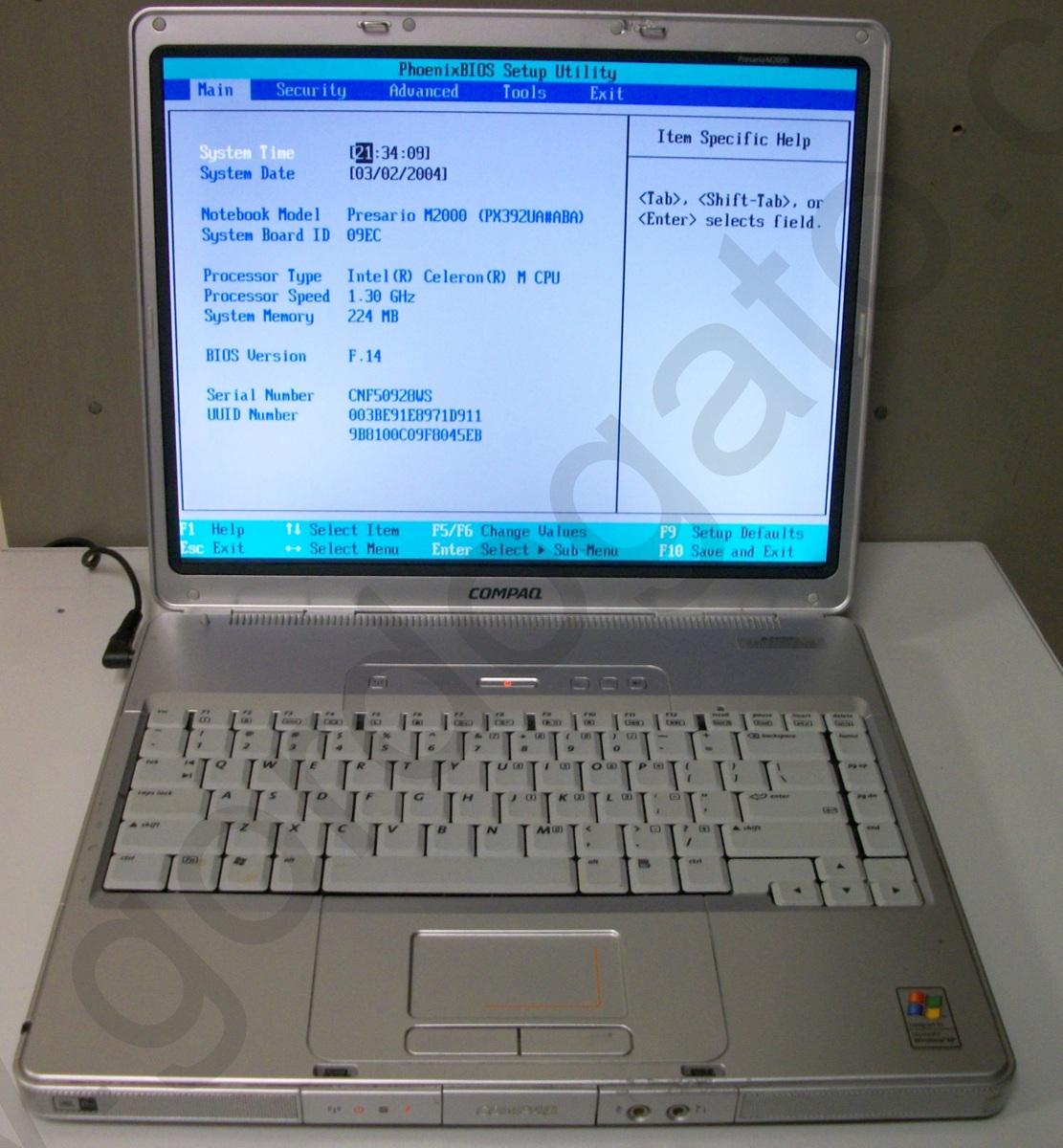 Hp Compaq Presario M2010us Windows Xp Home Laptop Notebook
