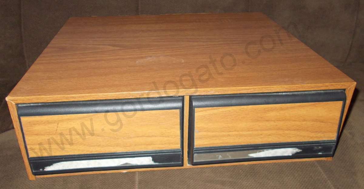 1, VHS Video Movie Storage Cabinet Box W/ Drawers (24)