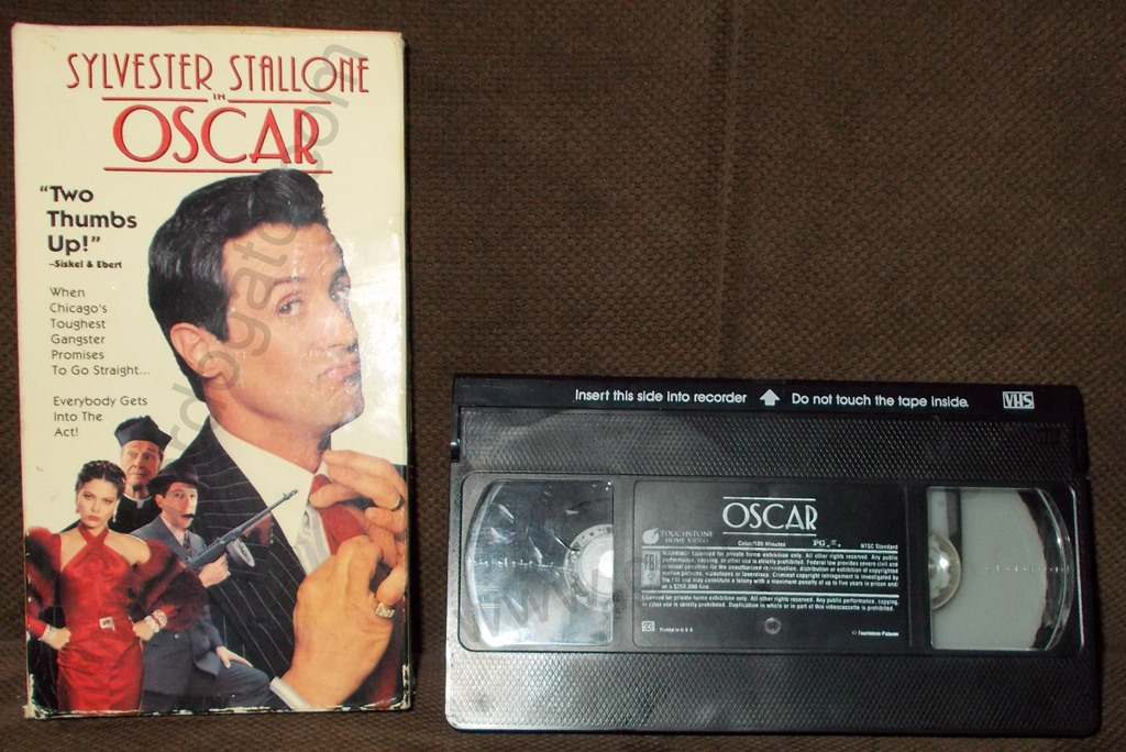 Oscar VHS 1991 Stallone Gordogatos Interesting Stuff