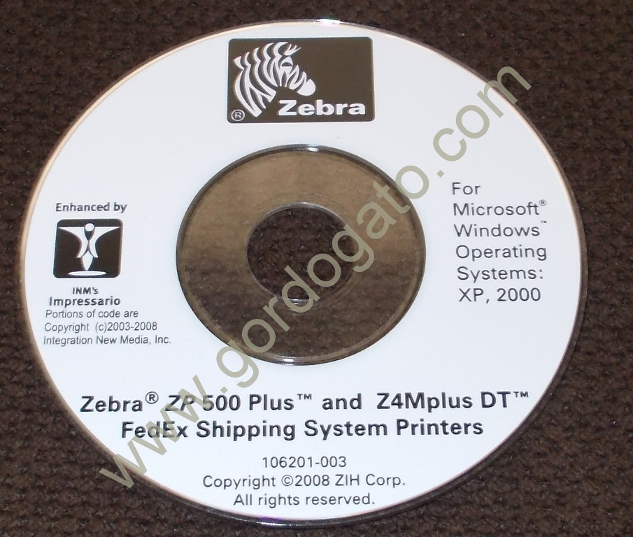 Zebra Printer Driver For Zp 500 Plus