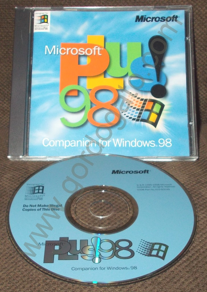Microsoft Plus 98 For Windows 98 Cd Rom 1998 Gordogato
