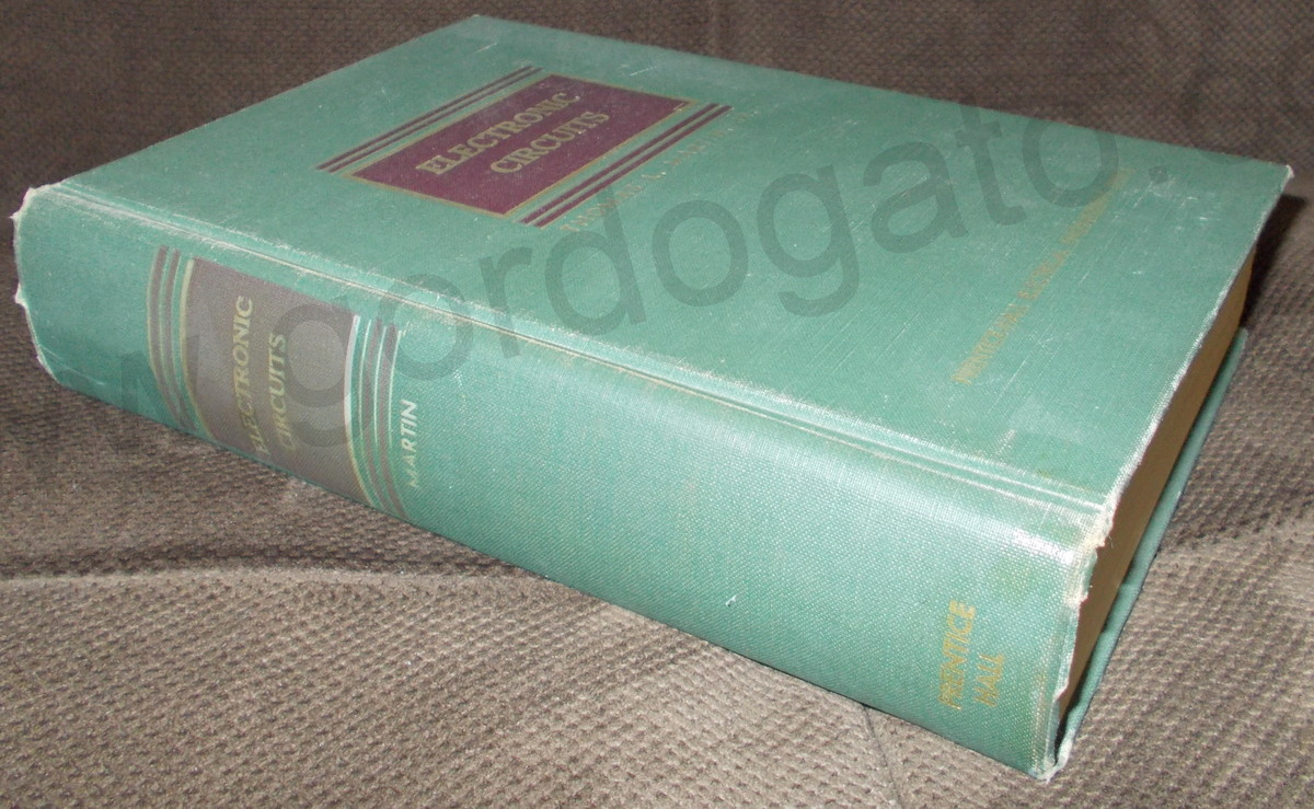 Electronic Circuits By Thomas L Martin Jr Hardcover 1953 Circuit Book Gordogatos Interesting Stuff