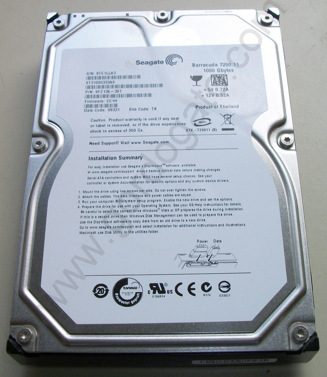Bad Sectors Seagate 1tb 35 Sata Desktop Hard Disk St31000333 Baracuda Gordogatos Interesting Stuff